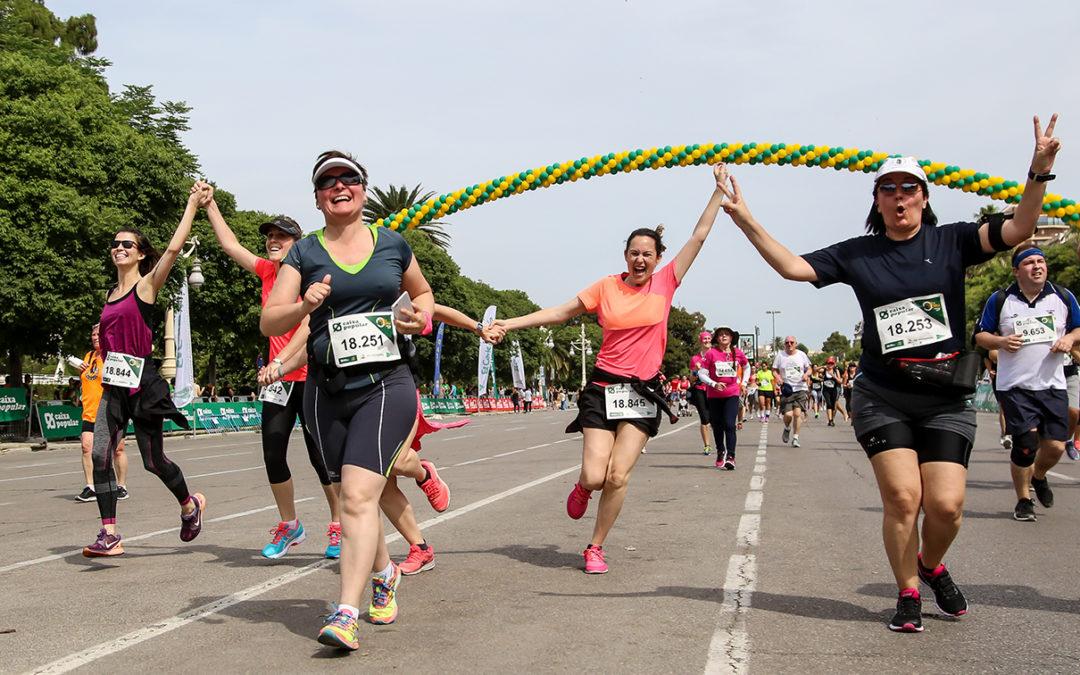 La participación femenina apunta a record en la Volta a Peu València Caixa Popular de este domingo
