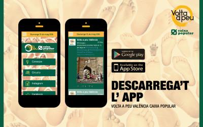 Descarrega en el teu mòbil l'APP de la Volta a Peu València Caixa Popular