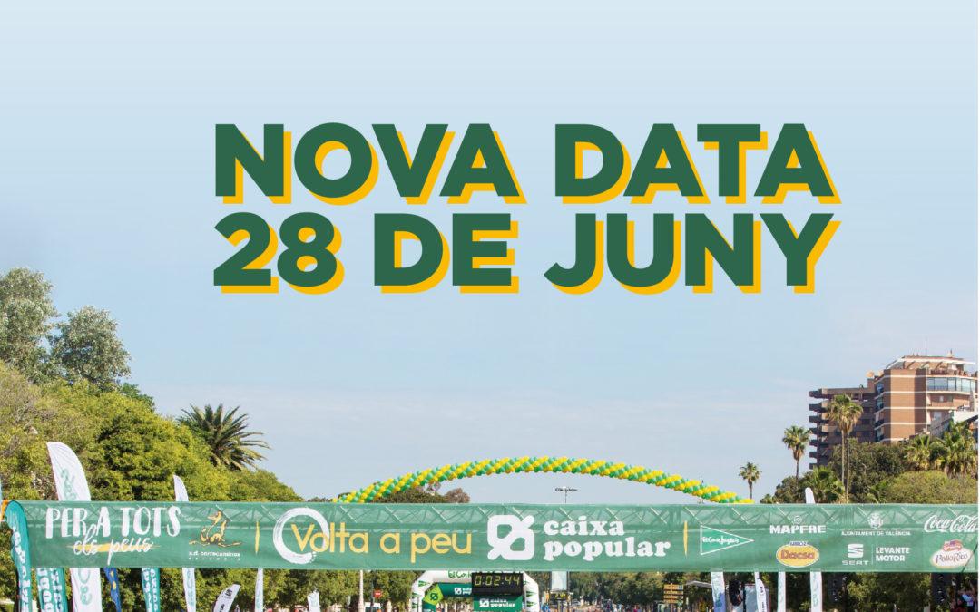 Volta a Peu València Caixa Popular: aplazada al 28 de junio