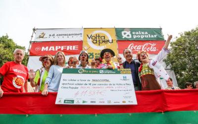 PayaSOSpital rep 11.387 euros gràcies a la Volta A Peu València Caixa Popular