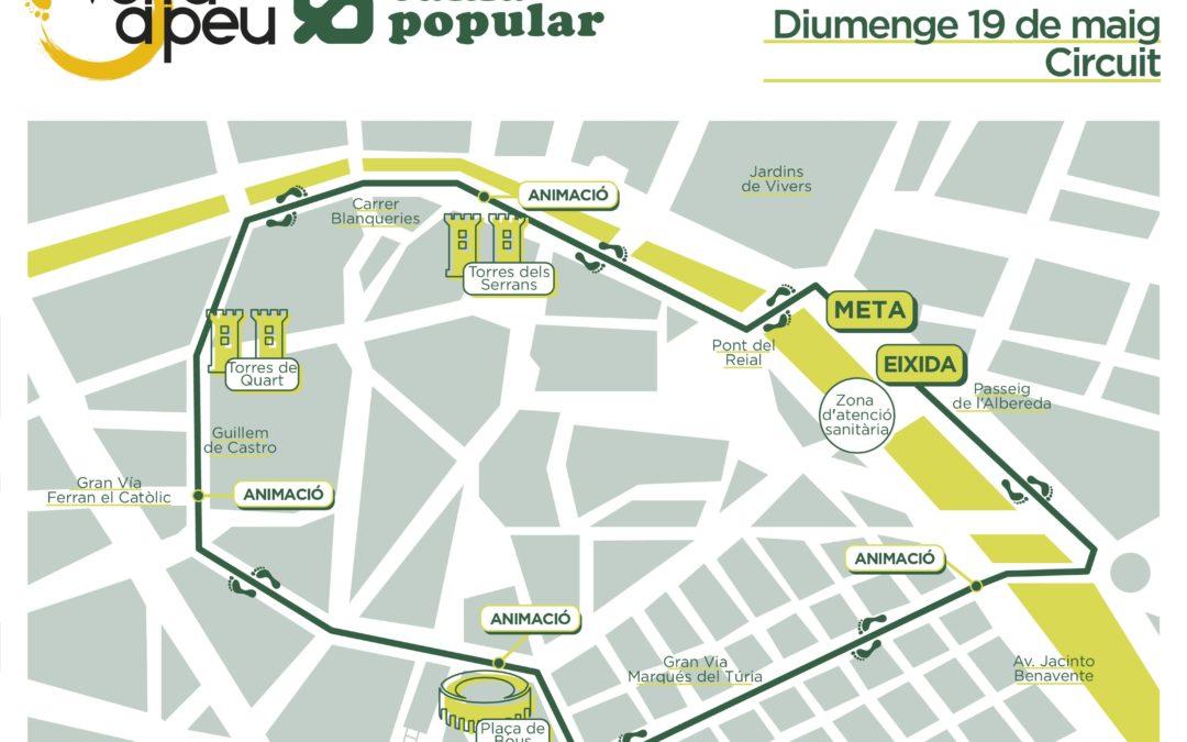 La Volta a Peu València Caixa Popular 2019 adapta su recorrido a la distancia de 6,2 kilómetros